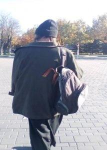поп з георгіївською стрічкою намагався втекти від поліцейських