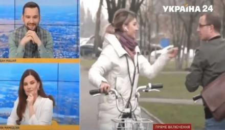 """Скандал на канале Украина! «Почему вы ездите на велосипеде?» – «Потому что Ахметов """"петух""""». Видео"""