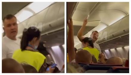 С рейса Одесса — Анталия сняли мужика, который отказался в самолёте надеть маску и начал скандалить